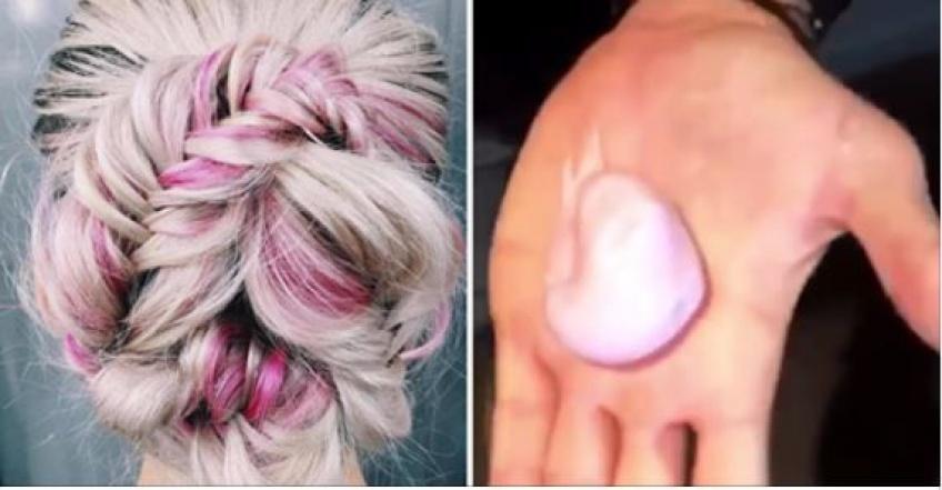 ALERTE : Il nous faut la nouvelle mousse qui colore les cheveux en rose holographique