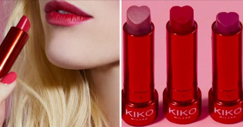 Kiko dévoile son nouveau lipstick en forme de coeur spécial Saint Valentin