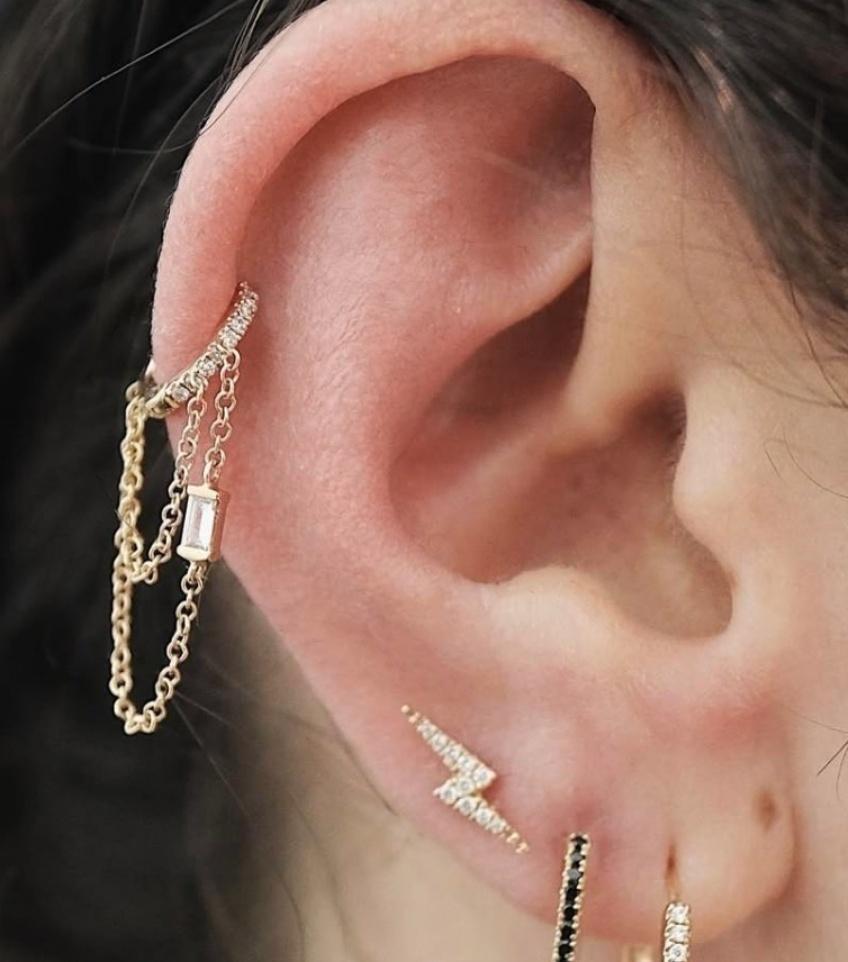 20 superbes inspirations de piercings au cartilage qui devraient vous donner des idées