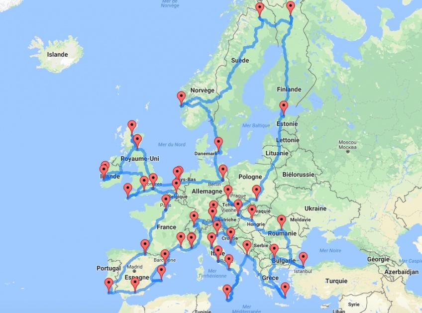 LE Road trip complet pour découvrir toute l'Europe !