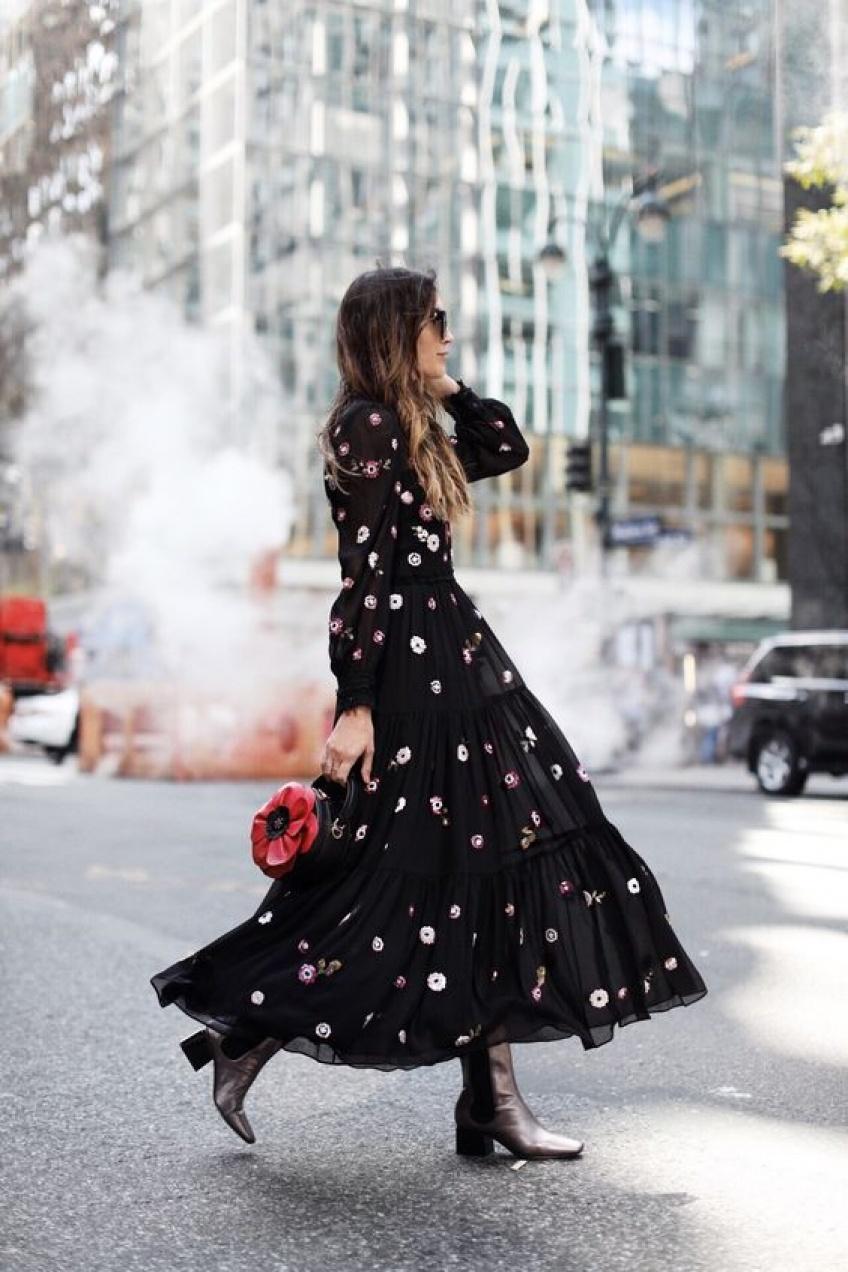 30 robes midi à manches longues pour être tendance même en hiver