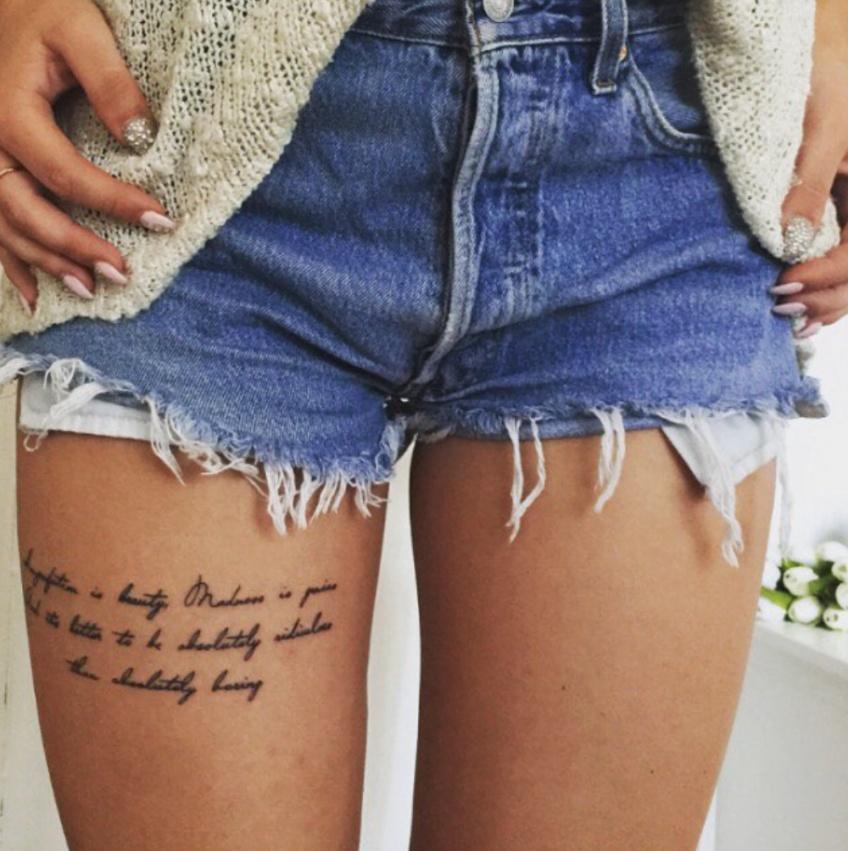 20 inspirations de tatouages pour remplir nos gambettes