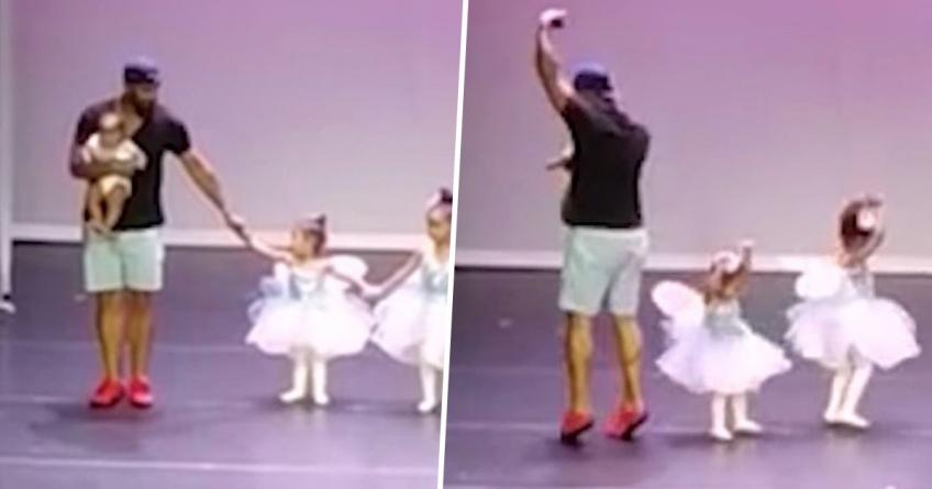 Ce papa monte sur scène pour danser avec sa fille souffrant de trac !