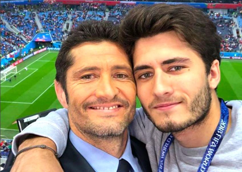 Bixente Lizarazu s'autorise un selfie de la victoire avec son fils !