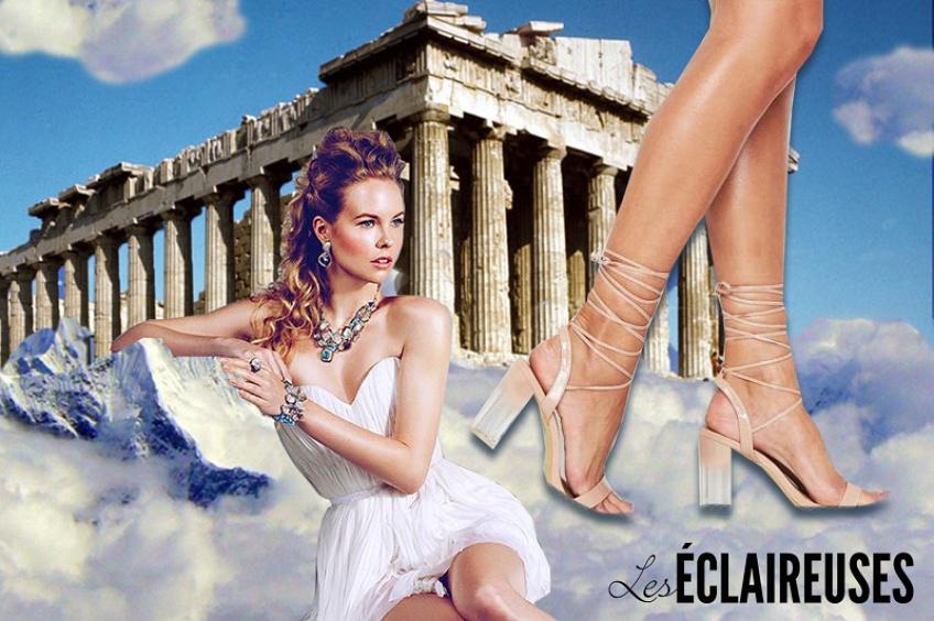 Déesse de la mode : mettez le style à vos pieds avec des sandales lacées !