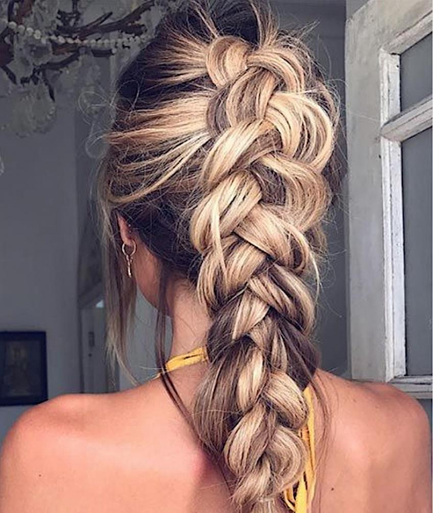 La tresse, la coiffure incontournable du moment repérée sur Pinterest
