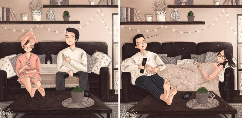 Ces dessins qui illustrent parfaitement la vie de couple quotidienne