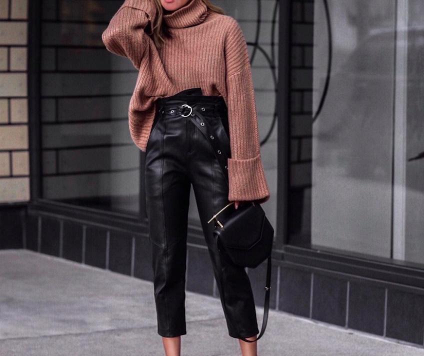 Les pantalons en cuir les plus rock'n'roll de l'automne