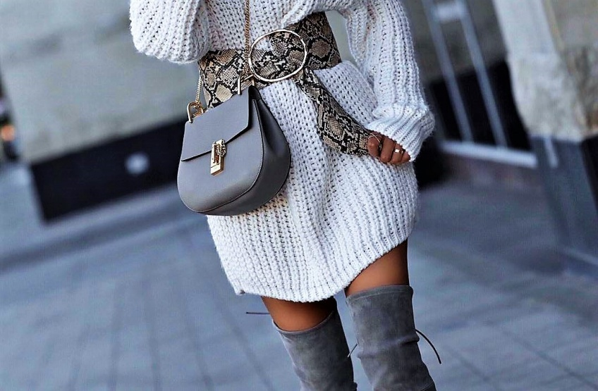 cuissardes, robe pull