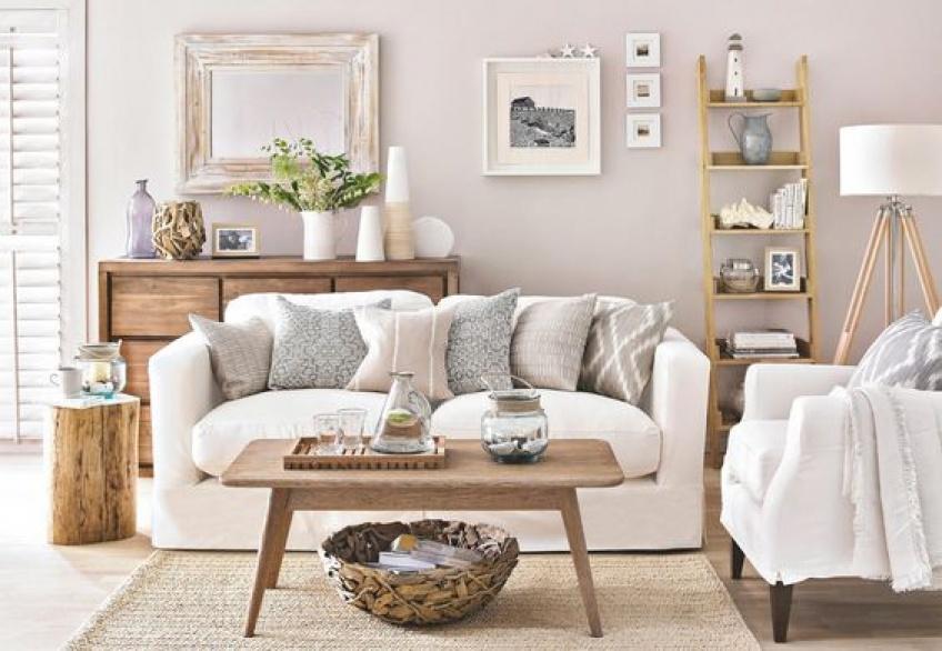 salon, décoration, blanc
