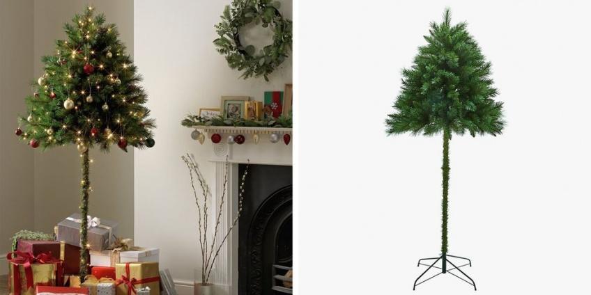 Le demi-sapin de Noël est la tendance originale de vos fêtes de fin d'année
