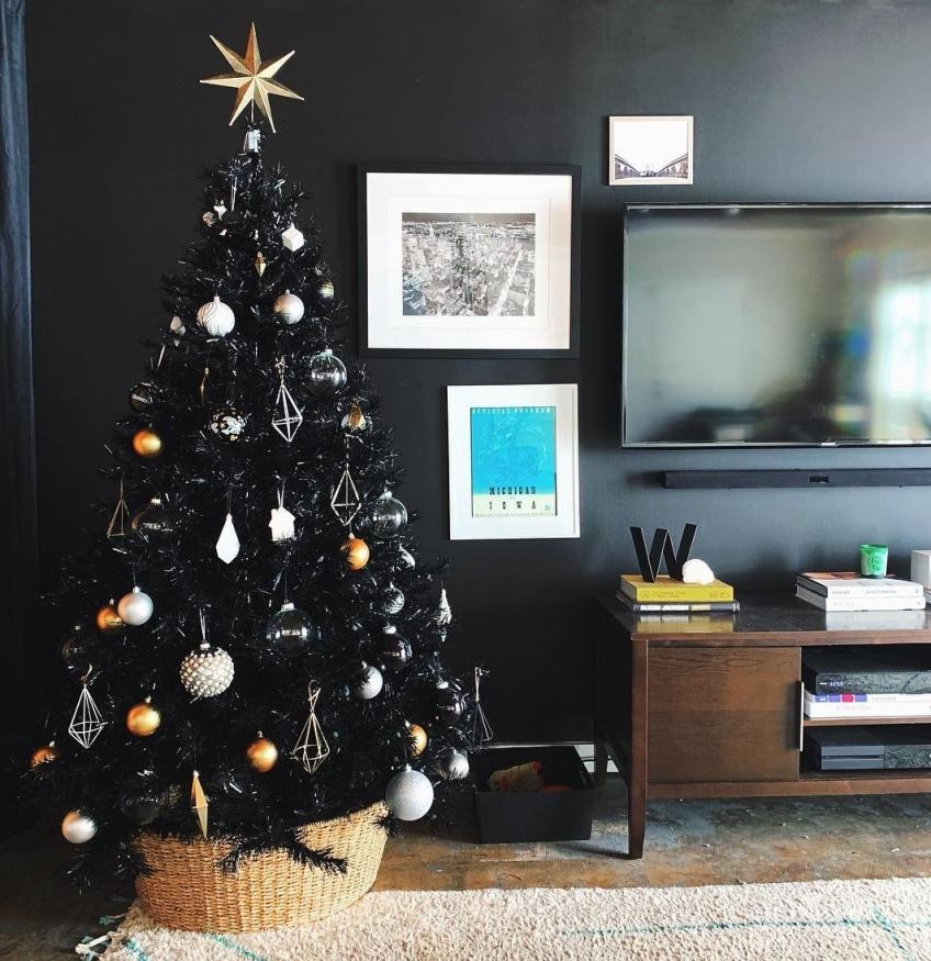 Déco Tendance Sapin noir Noël