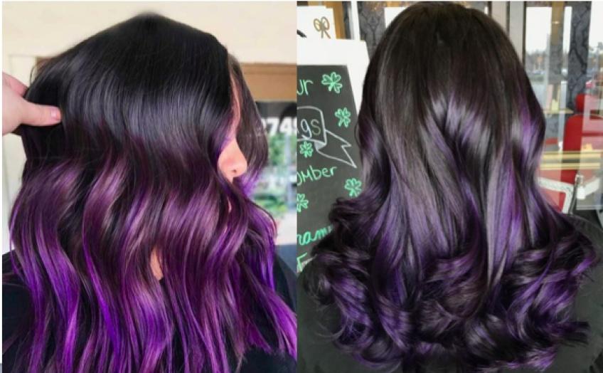Purple Ombré : la coloration cheveux qui fera sensation cette saison