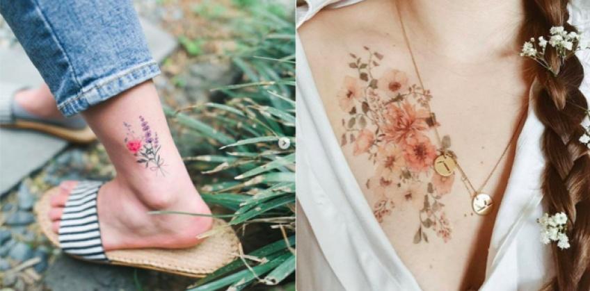 Choisissez le modèle de votre tatouage floral en fonction de votre signe astro !
