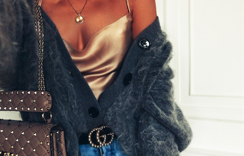 satin, laine, pull, gilet, maille