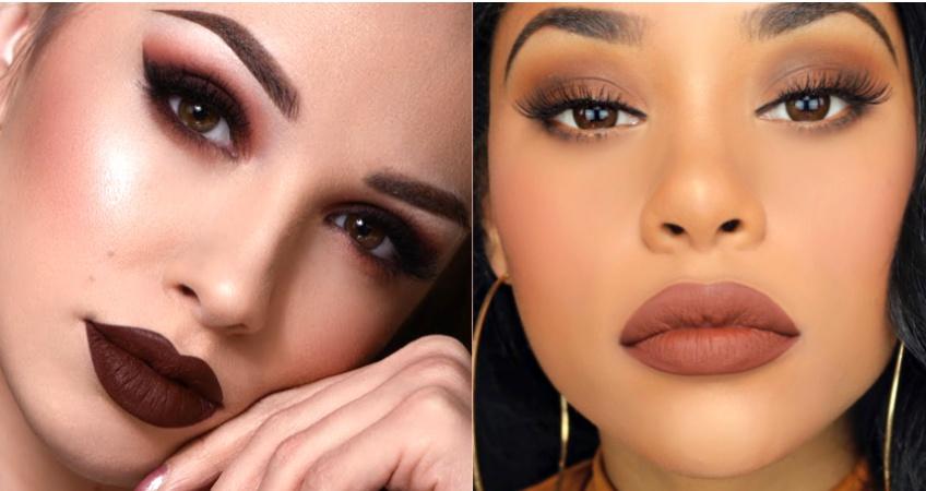 Comment se maquiller avec un rouge à lèvres brun ?