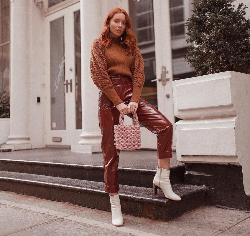 mode sélection pantalon vinyle hiver