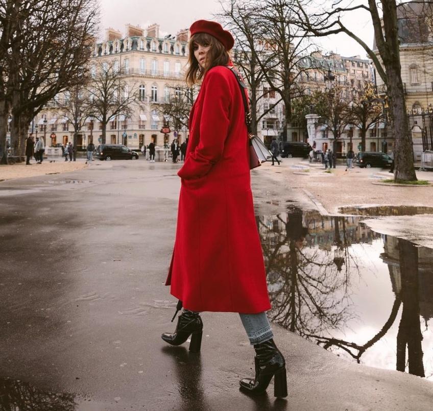 mode sélection manteaux colorés hiver
