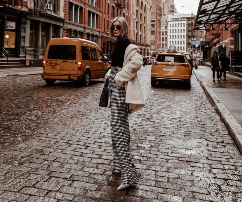 mode sélection pantalons imprimés hiver