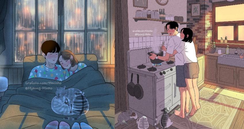 Ces dessins adorables qui illustrent parfaitement les relations de couple