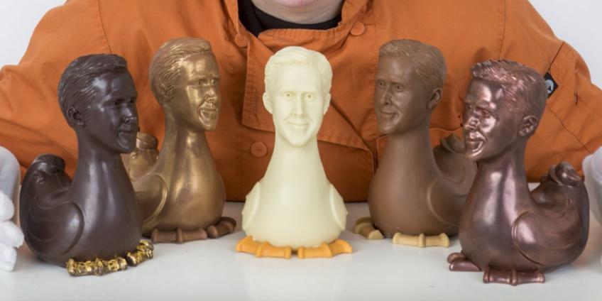 Des poules en chocolat avec la tête de Ryan Gosling pour Pâques !