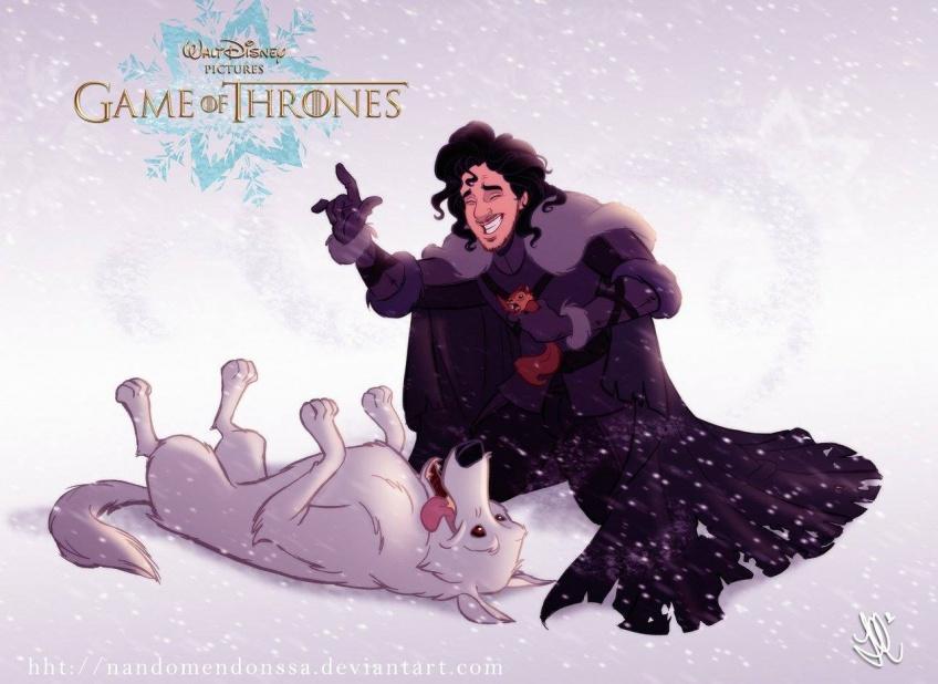 Un illustrateur a imaginé Game of Thrones en dessin animé Disney et c'est hilarant !