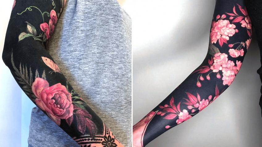 Cette artiste réalise de sublimes tatouages fleuris sur fond noir !