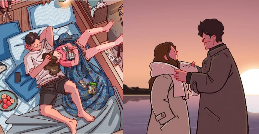 Les illustrations que seules les filles amoureuses peuvent comprendre