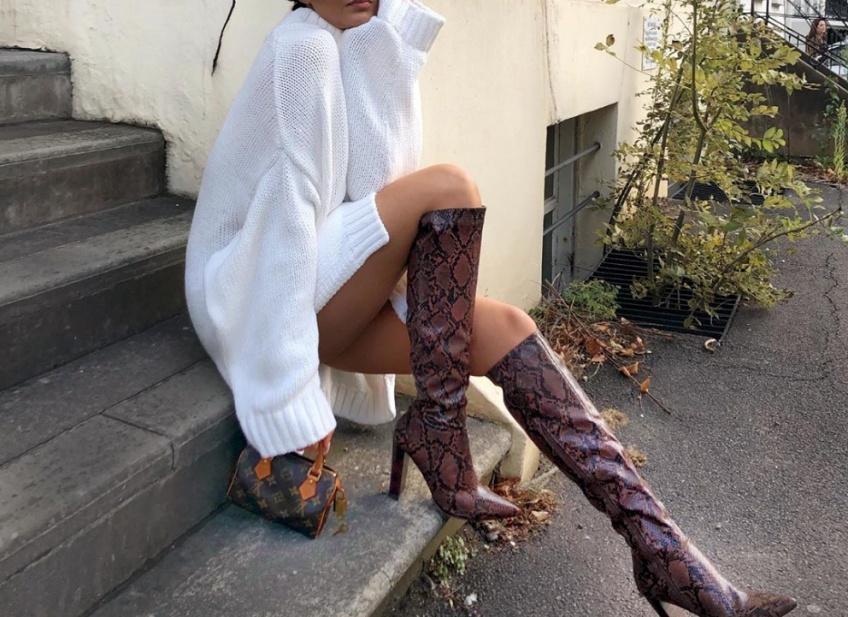 bottes hauteur genoux automne