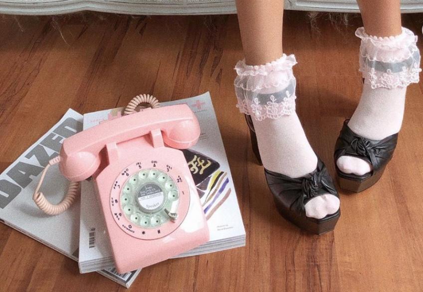 duo chaussettes et escarpins