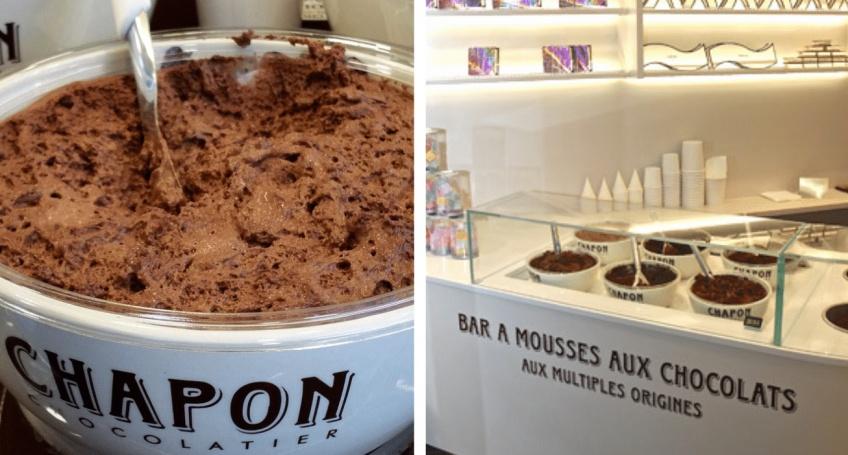 bar mousse chocolat Champs Elysées
