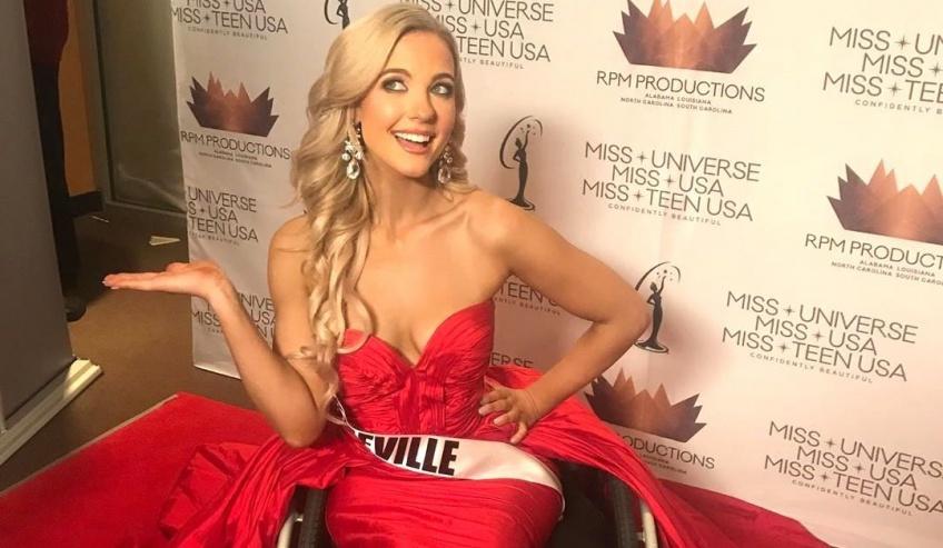 En chaise roulante, elle atteint le top 10 du concours Miss Caroline du Nord !
