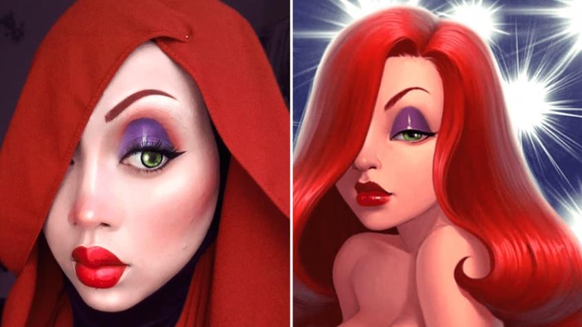 Elle se transforme en personnages Disney à l'aide de son hijab !