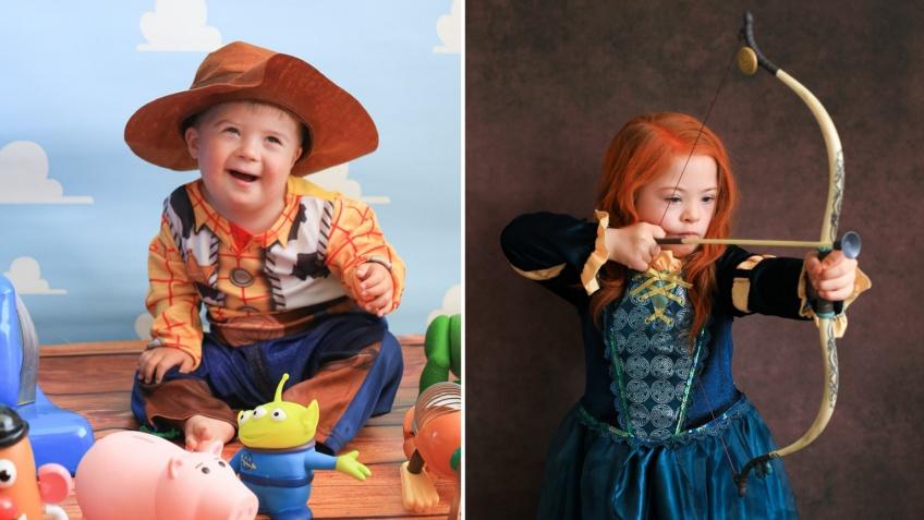 Des enfants atteints de trisomie 21 posent en personnages Disney !
