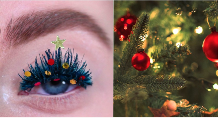 Christmas Tree Lashes : la tendance qui décore vos cils pour Noël !