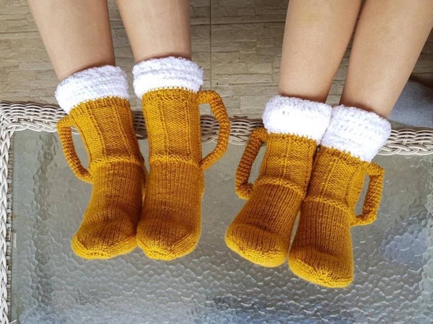chaussettes pintes de bière