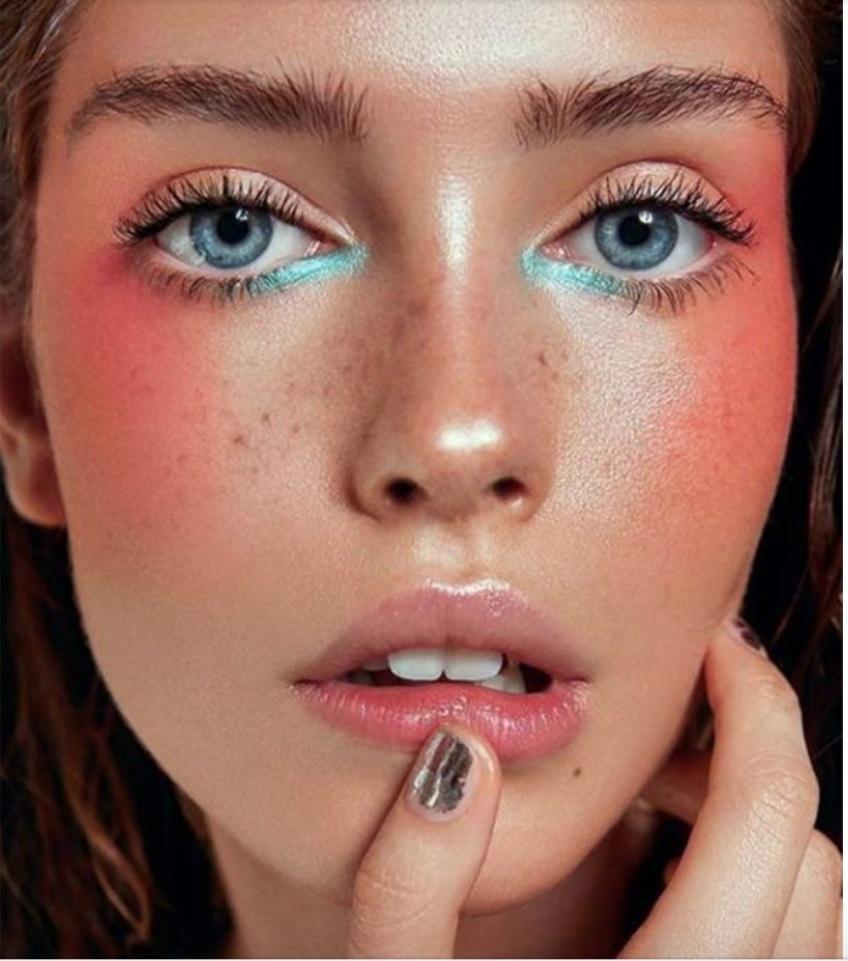 blush prononcé tendance makeup