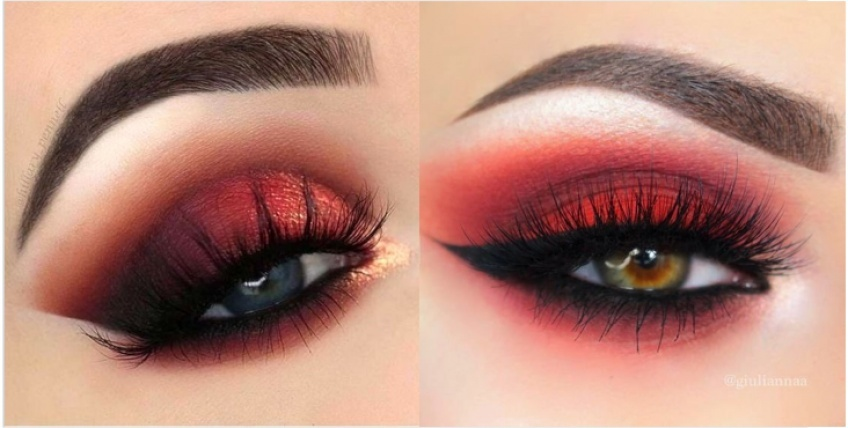 smoky-eyes rouge hiver