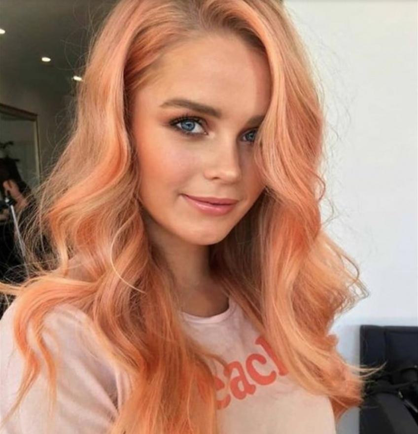 cheveux pêche coloration tendance