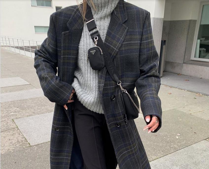 manteau à carreaux looks printaniers
