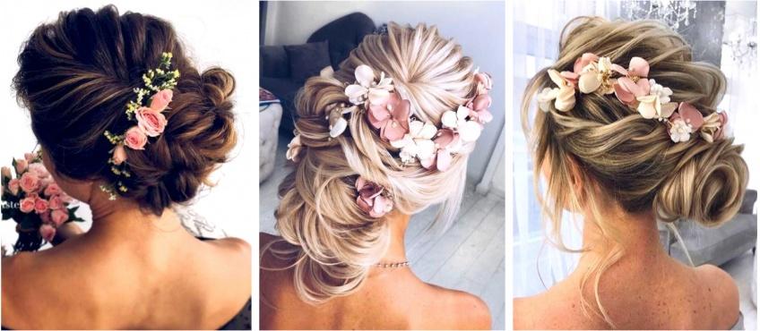 Le chignon fleuri : la coiffure préférée des mariées !