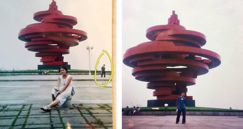 Mariés, ils découvrent qu'ils sont sur une même photo prise 11 ans avant leur rencontre
