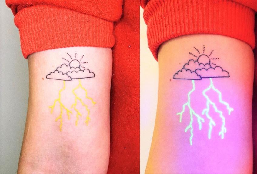 Une artiste australienne fait des tatouages qui prennent vie sous une lumière UV !
