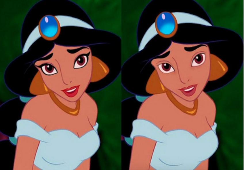 À quoi ressembleraient les personnages féminins Disney sans make-up ?
