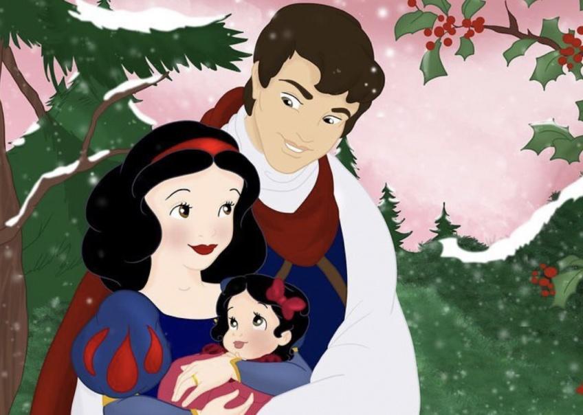 Il imagine nos princesses Disney préférées en mère de famille et le résultat est émouvant