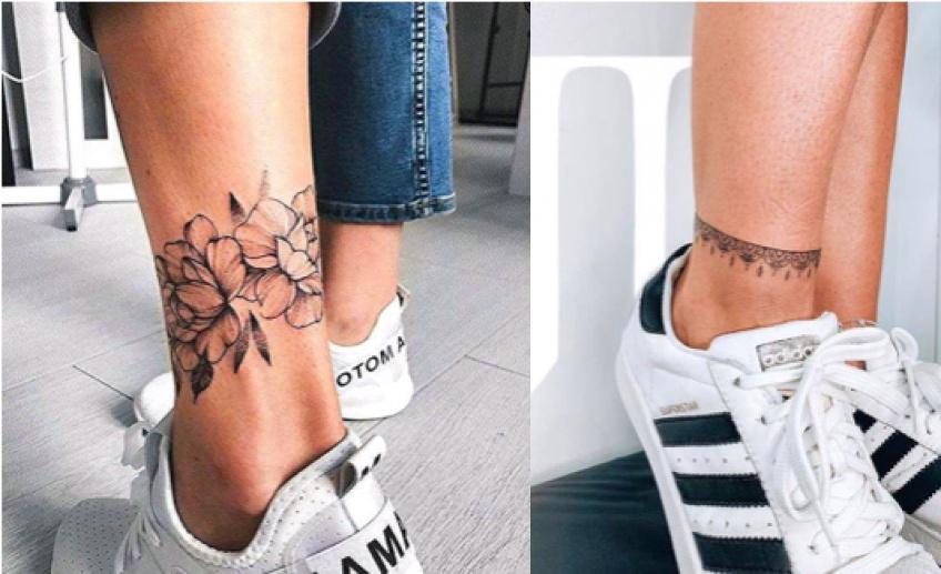 Ces sublimes tatouages qui font office de chaîne de cheville !