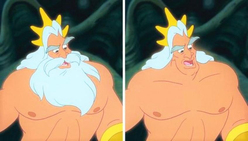 Découvrez à quoi ressemblent les personnages Disney sans leur barbe !