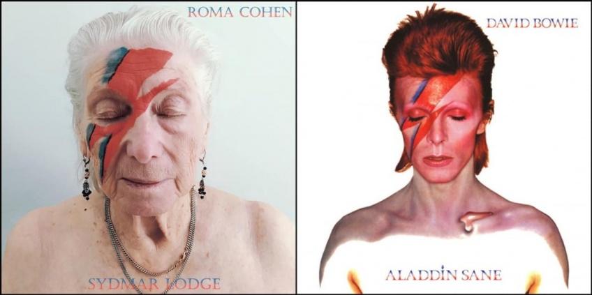 Les résidents d'une maison de retraite reproduisent des couvertures d'albums !