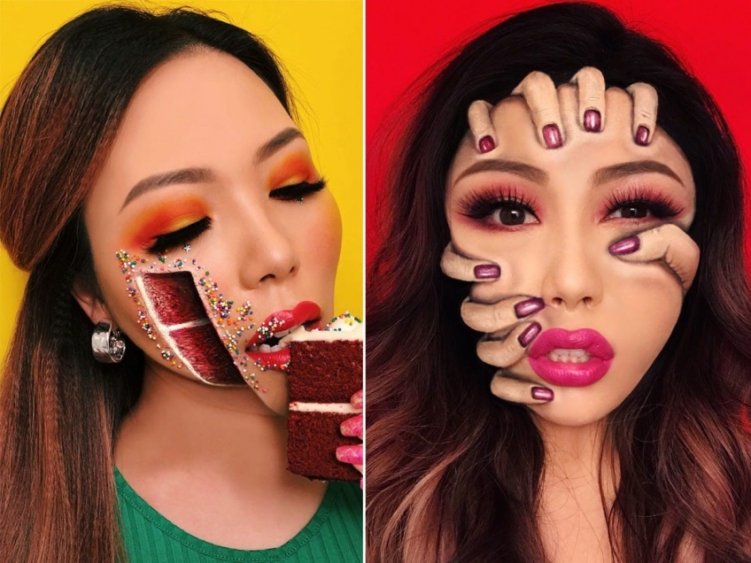 Cette make-up artist est une pro' dans l'art de l'illusion d'optique !