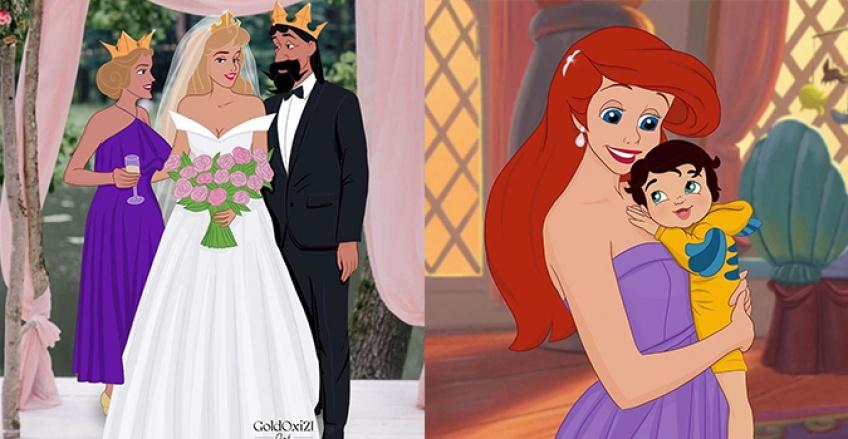 Elle imagine les princesses Disney dans des scènes jamais vues dans les dessins animés